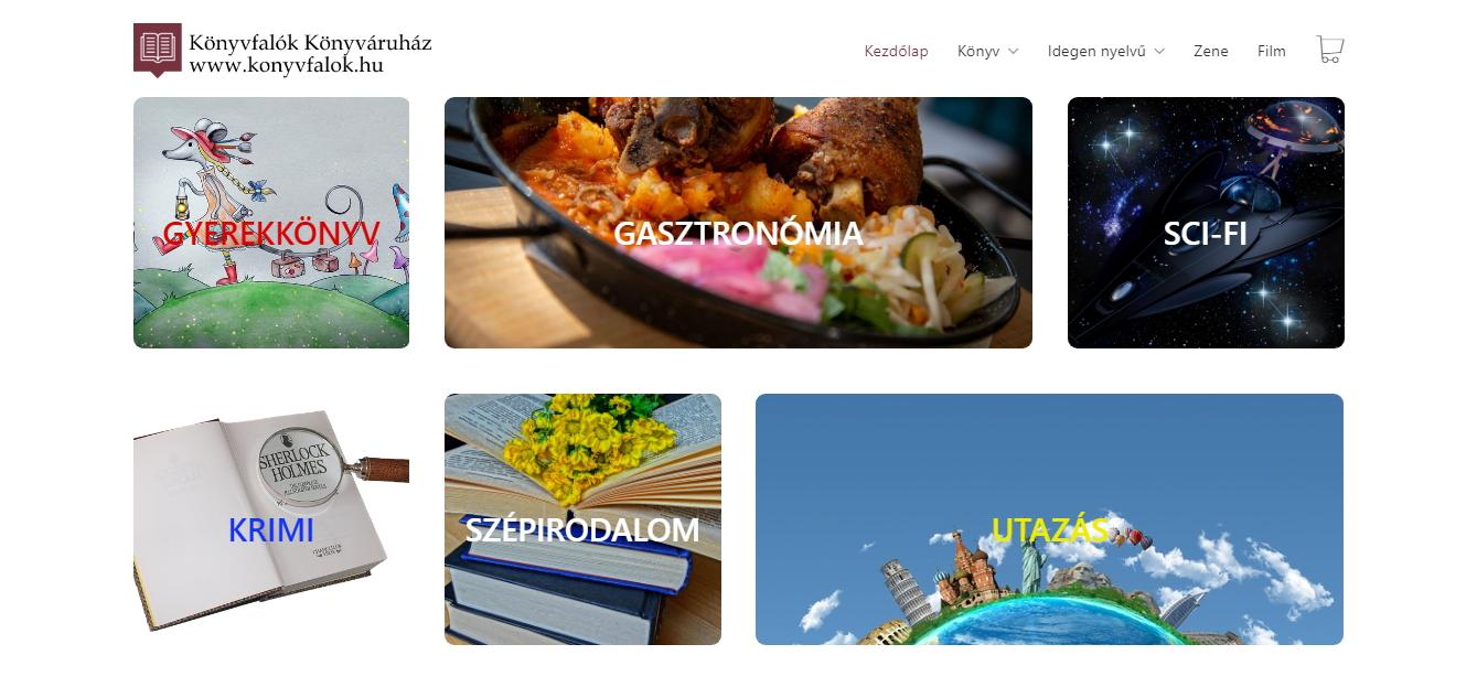 Webáruház készítés, webshop készítés