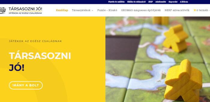Webshop készítés: tarsasoznijo.hu